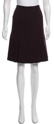 Akris Wool Knee-Length Skirt