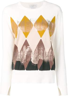 Ballantyne geometric print knitted top