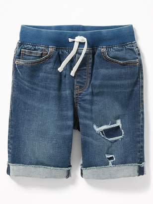 Old Navy Rib-Knit Waist Built-In Flex Max Karate Jean Shorts for Boys
