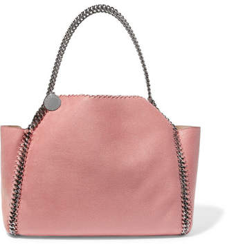Stella McCartney The Falabella Medium Reversible Faux Brushed-leather Tote - Blush