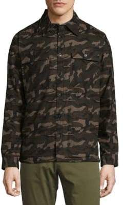 Saks Fifth Avenue Camouflage Cotton Button-Down Shirt