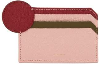 Roksanda Dot Tri Colour Leather Card Holder - Womens - Pink Multi