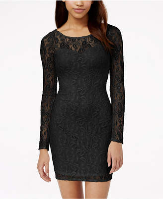 Material Girl Lace Illusion Bodycon Dress, Created for Macy's