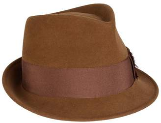 Philip Treacy Velour Feather Trilby Hat 30baf6ee97f0