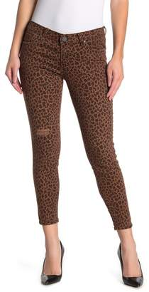 KUT from the Kloth Donna High Waist Leopard Print Ankle Skinny Jeans