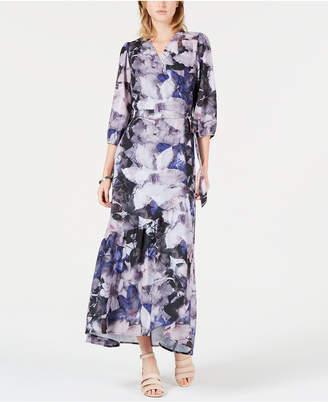 Bar III Artistic Roses Maxi Dress