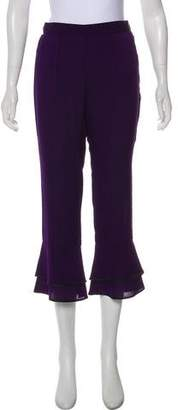 Piamita Silk-Blend High-Rise Pants w/ Tags