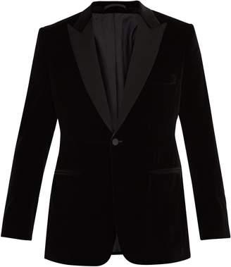 Kilgour Single-breasted velvet blazer