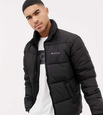 Nicce London puffer jacket in black exclusive to ASOS