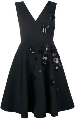 MSGM paillette-embellished crepe dress