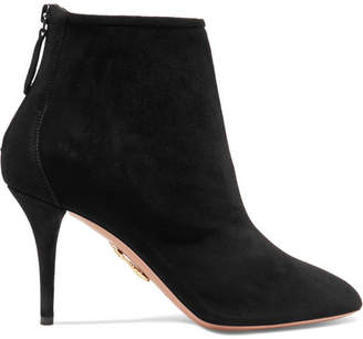 Aquazzura Brook Suede Ankle Boots - Black