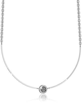 Rebecca R-Zero Rhodium Over Bronze Necklace w/Stones
