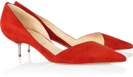 Christian Louboutin Newton 45 cutout suede pumps