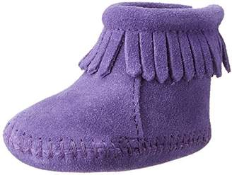 Minnetonka Velcro Back Flap Bootie, Unisex Baby Crawling Baby Boots,3 Child UK (21 EU)