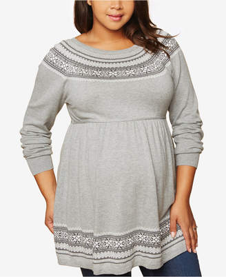 Motherhood Maternity Plus Size Babydoll Sweater