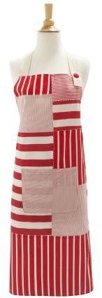 Sur La Table Striped Patches Vintage-Inspired Apron