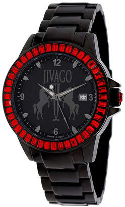 Jivago Womens Folie Black Stainless Steel Bracelet Watch