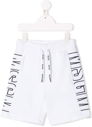 MSGM Kids logo print shorts