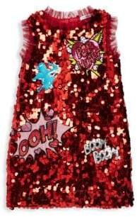 Dolce & Gabbana Little Girl's& Girl's Sleeveless Sequin Dress