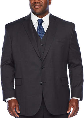 STAFFORD Stafford Super Checked Stretch Suit Jacket-Big and Tall