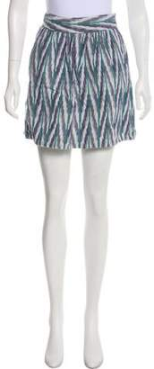 Steven Alan Patterned Mini Skirt