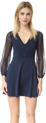 alice + olivia Cary Deep V Neck Flare Dress $348 thestylecure.com