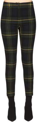Moschino Wool Plaid Cigarette Pants