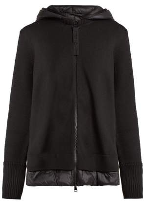 Moncler - Padded Panelled Wool Jacket - Womens - Black