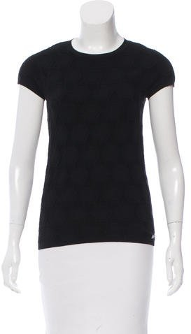 Chanel Patterned Short Sleeve Top