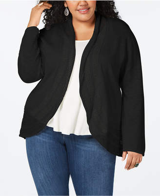 Style&Co. Style & Co Plus Size Pointelle Cardigan