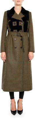 Maison Margiela Wool And Velvet Coat