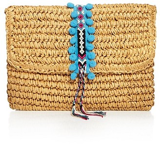 Fallon & Royce Reese Fold Over Straw Clutch $78 thestylecure.com
