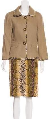 Michael Kors Linen Knee-Length Skirt Suit