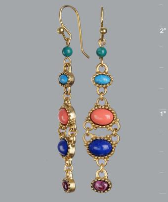 Lee Angel 'Astrid' multi-stone linear drop earrings