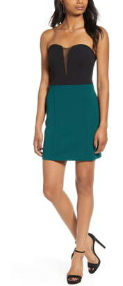 Speechless Strapless Body-Con Scuba Crepe Minidress