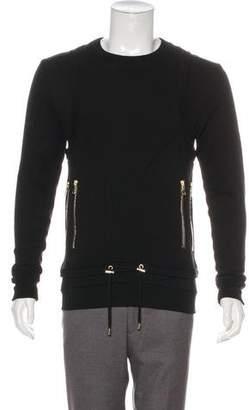 Balmain Zip Accented Sweatshirt