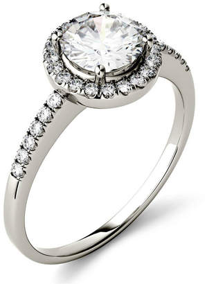 Charles & Colvard Moissanite Round Halo Ring (1-1/3 ct. t.w. Diamond Equivalent) in 14k Gold or White Gold