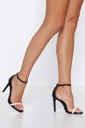 Nasty Gal Save the Last Dance Square Toe Heel