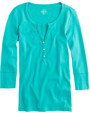 J.Crew Perfect-fit henley with gold buttons