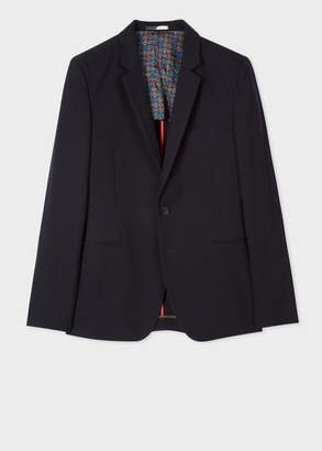 Paul Smith Men's Navy Textured Cotton-Blend Blazer