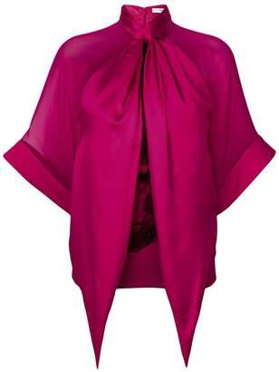 Givenchy draped neckline rottweiler print top