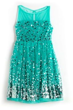 ROXETTE Girls 7-16 Sequined Illusion Dress