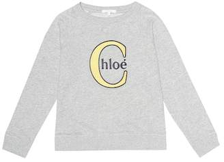Chloé Kids Embroidered cotton-blend sweatshirt