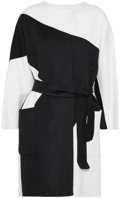 Max Mara Two-Tone Wool And Angora-Blend Coat