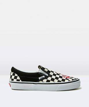 Vans Classic Slip On W Satin Patchwork Checker