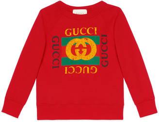 Children's sweatshirt with Gucci print $230 thestylecure.com