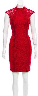 Alberto Makali Lace-Accented Knee-Length Dress w/ Tags