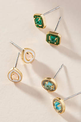 Anthropologie Clara Post Earrings Set