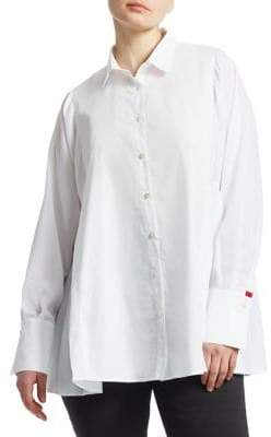 Marina Rinaldi Marina Rinaldi, Plus Size Baghera Pleated Button-Down Shirt