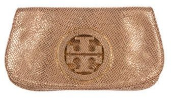 Tory Burch Tory Burch Embossed Leather Amanda Clutch